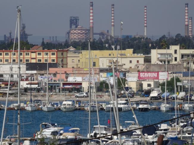 Morning sky in Taranto in Puglia, Italy