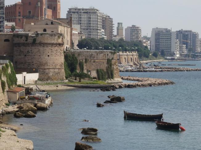 Seafront in Taranto in Puglia, Italy