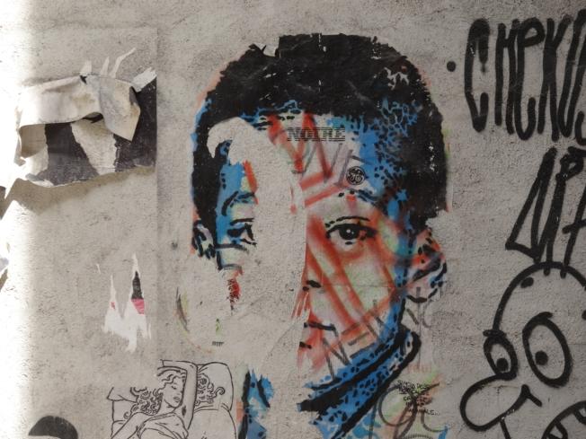 Street art in Taranto, in Puglia, Italy