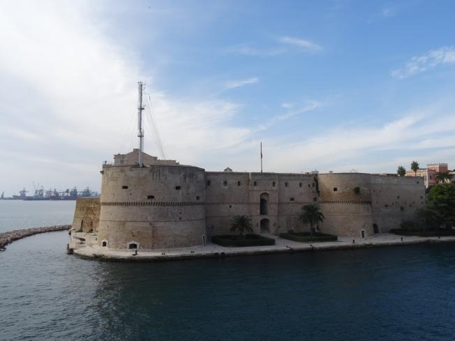 The castle in Taranto, in Puglia, Italy