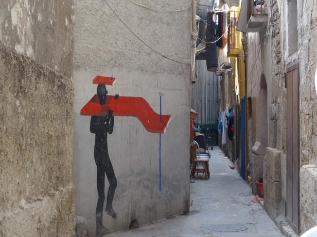 The old city in Taranto in Puglia, Italy