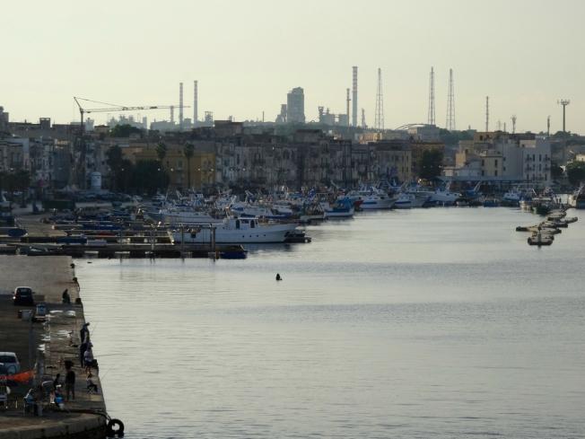 Evening sky in Taranto in Puglia, Italy