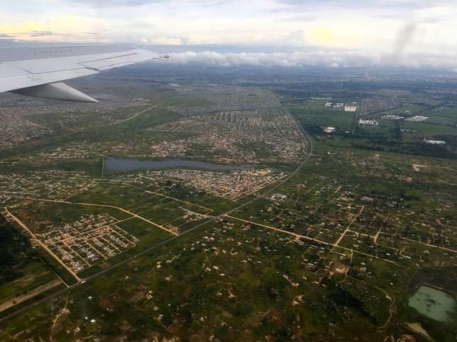 Our approach into Bulawayo in Matabeleland, Zimbabwe