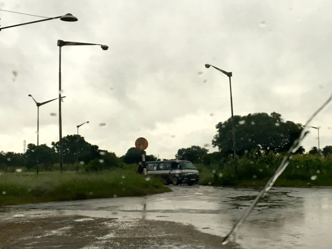 Road on the edge of Bulawayo in Zimbabwe