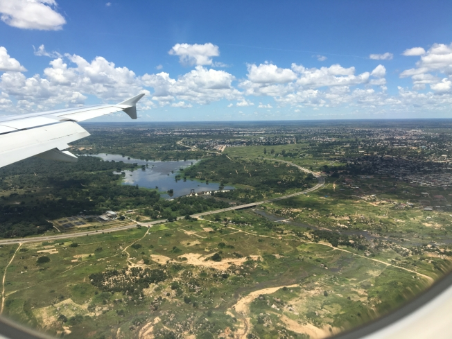 Coming in to land at Harare International Airport in Zimbabwe