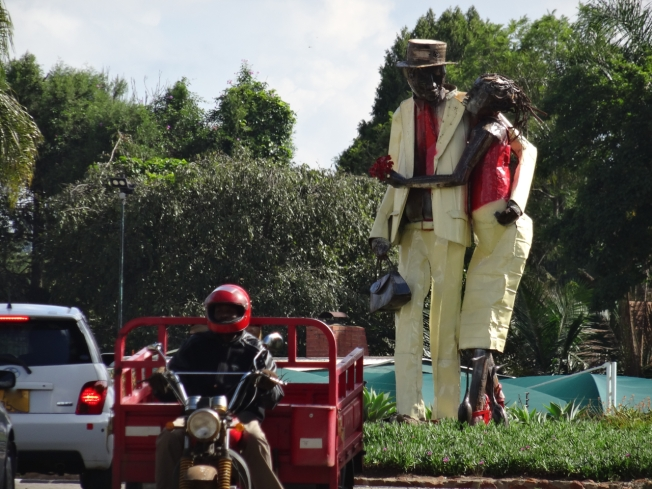 The 'Art Roundabout' in Harare, Zimbabwe
