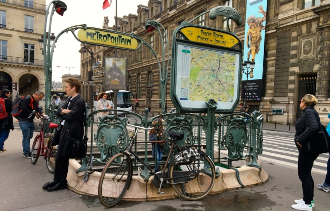 Metro station in Paris, France