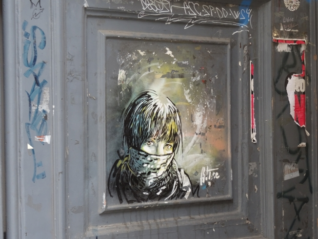 Street art seen in Naples, Italy in October 2014