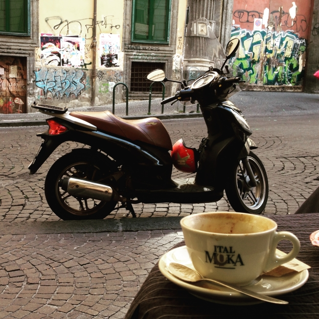 A coffee stop in Naples, Italy