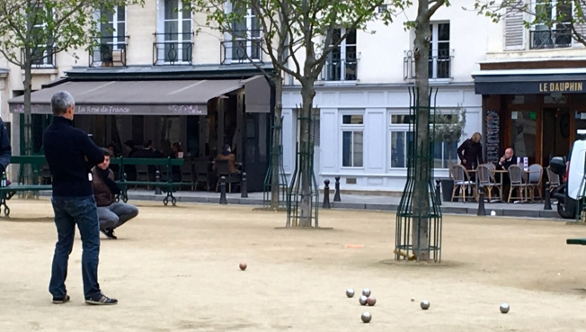 Pétanque in Paris, France