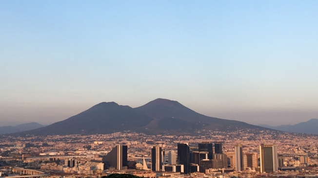 Vesuvius overlooks Naples, Italy