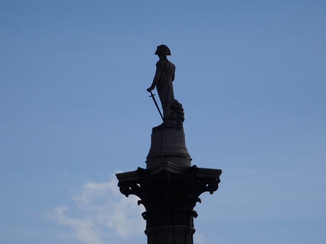 Nelson's column in Trafalgar Square, London