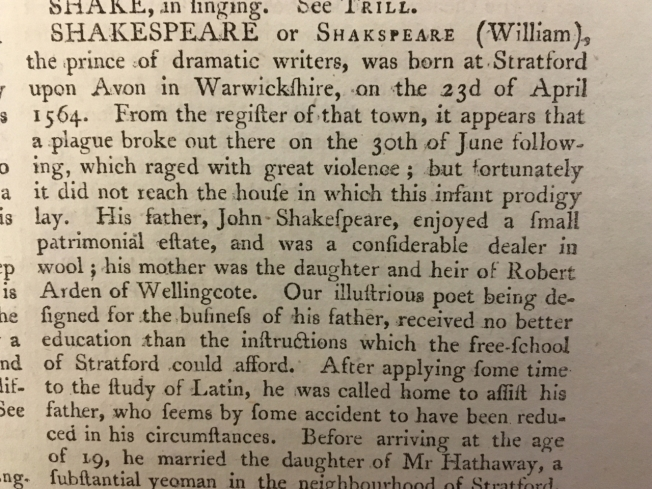 "Shakespeare - "" the prince of dramatic writers"""