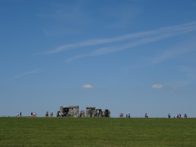 June day at Stonehenge, England