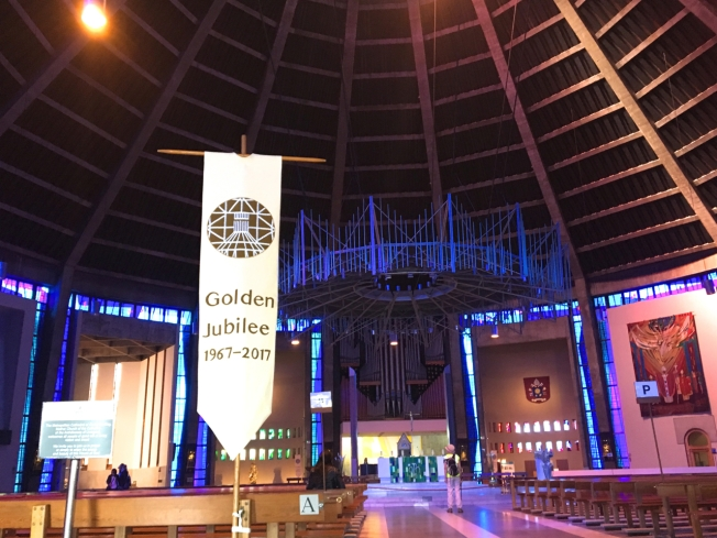 In the Metropolitan Cathedral of Christ the King in Liverpool, England