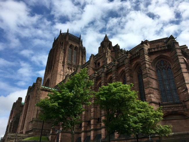 Liverpool's huge Anglican Cathedral built by Giles Gilbert Scott