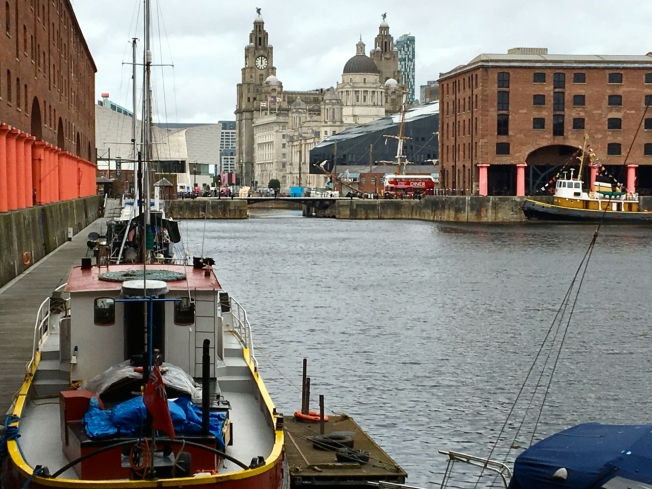 The docks in Liverpool, England