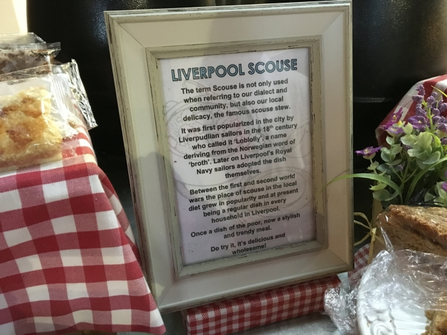 A notice in the cafe in the Anglican Cathedral in Liverpool, England