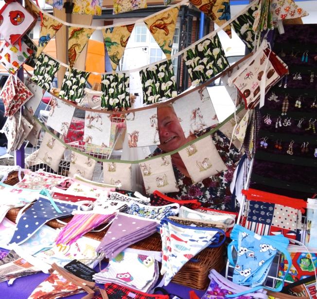Craft stall at Folk Week 2017 in Sidmouth, Devon