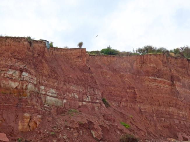 Cliff erosion in Sidmouth, Devon