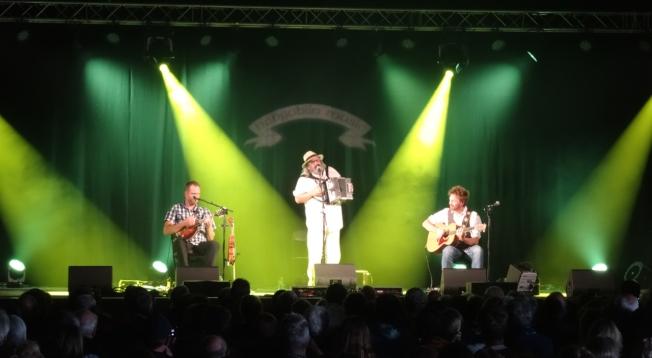 Yves Lambert Trio going Rasta at Sidmouth Folk Week 2017