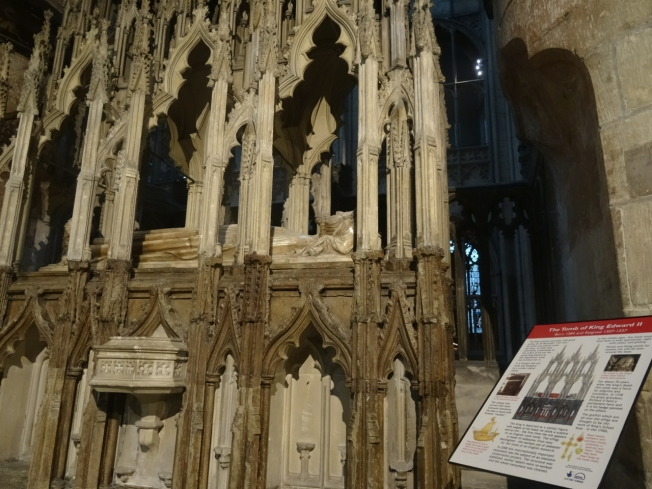 The tomb of Edward II in Gloucester Cathedral, England
