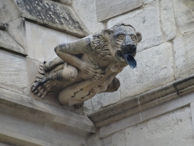 Gargoyle on Gloucester Cathedral, England