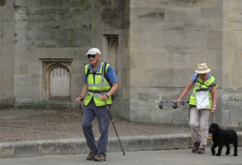 Tom and Jane Benyon and Moses at the end of their 2018 fundraising walk for ZANE (Zimbabwe a National Emergency)