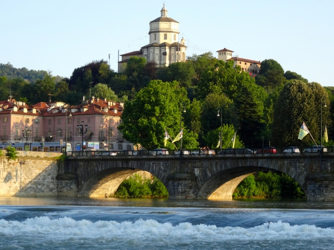The Po River in Turin, Italy