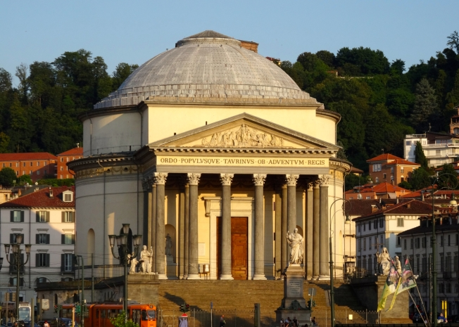 The Gran Madre di Dio church in Turin, Italy