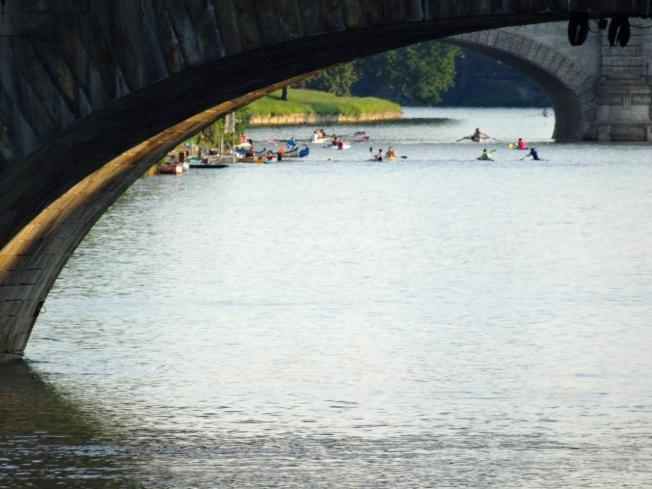 The Po River in Turin, Italy