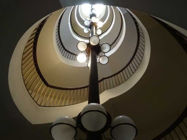 A staircase by Turin's architect designer Carlo Mollino (1905-1973)