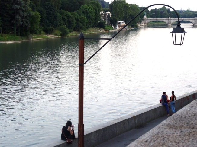 Beside the Po River in Turin, Italy