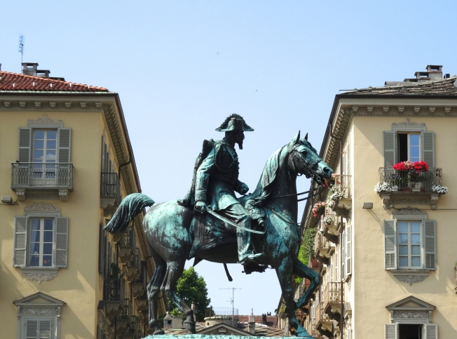 Turin, Italy: fine horse - not sure who the rider is