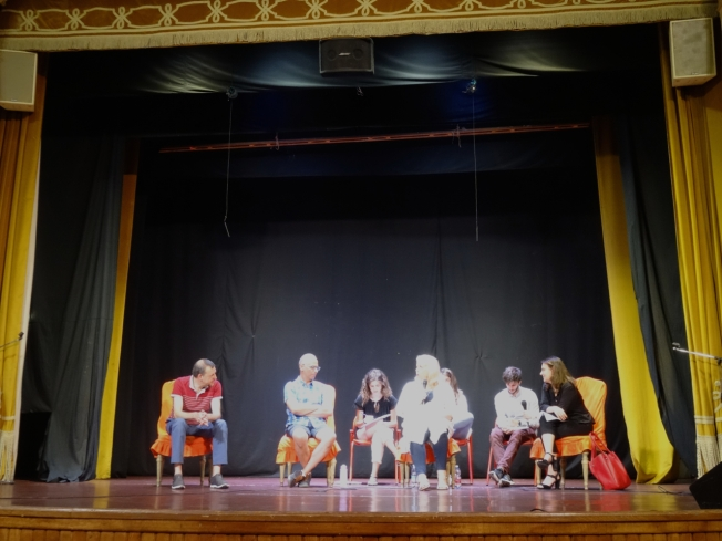 The panel and translators for the first talk show of Turin Epicurian Capital 2018