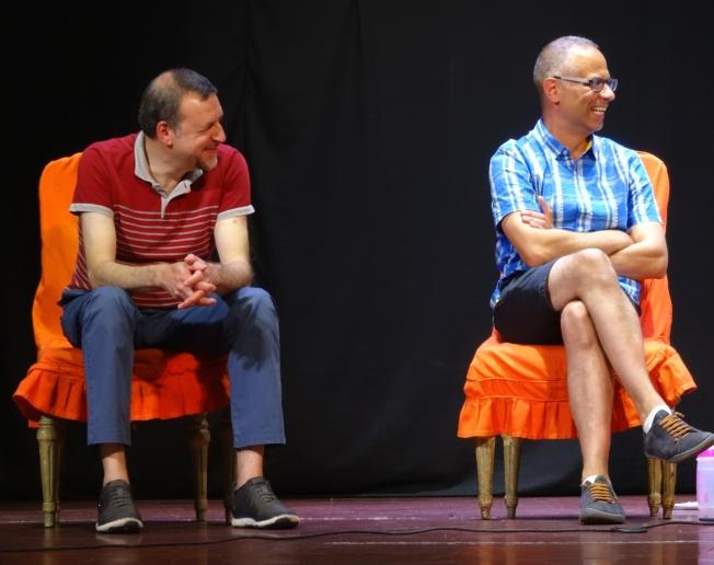 Anotonio DeVecchi and Daniele Taverna from Gelato Village in Leicester, England