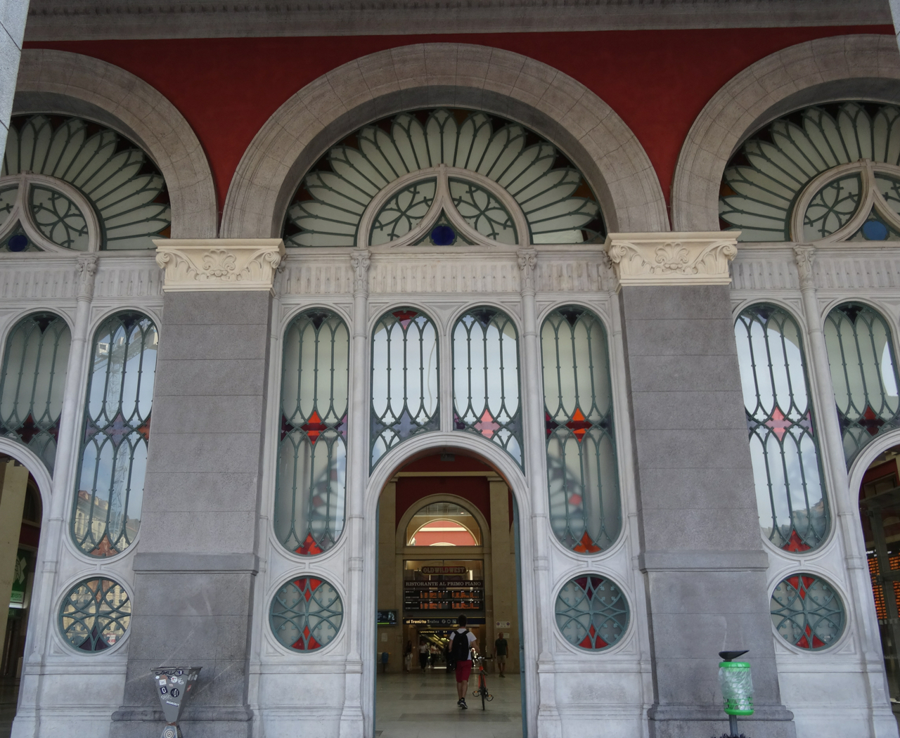 The front entrance to Porta Nuova train station in Turin, Italy