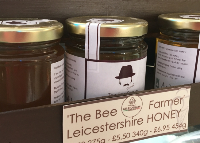 The honey used by Gelato Village in Leicester, England