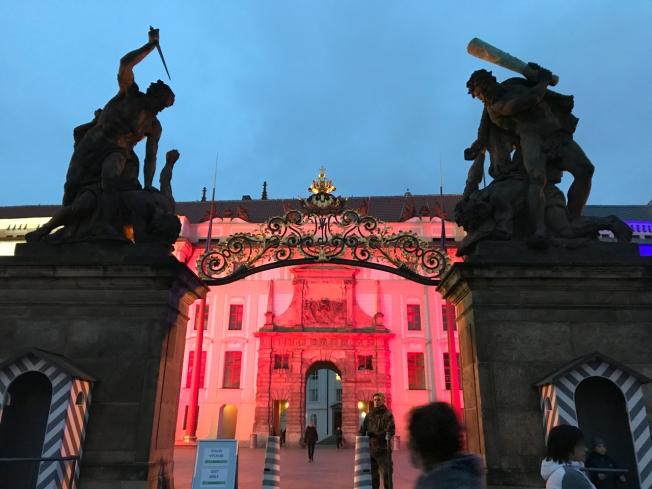 The gates to Prague Castle