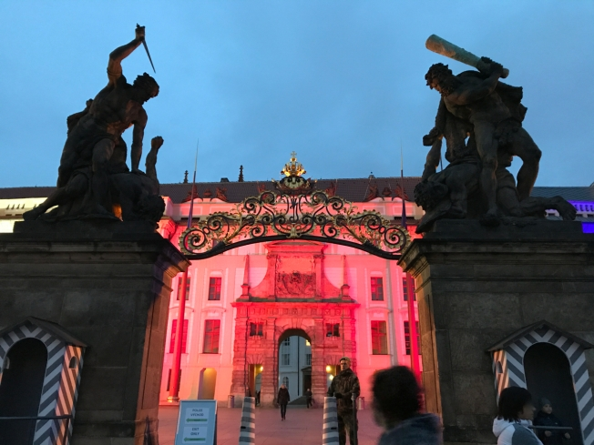 The gates to Prague Castle