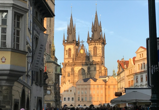 The old centre of Prague