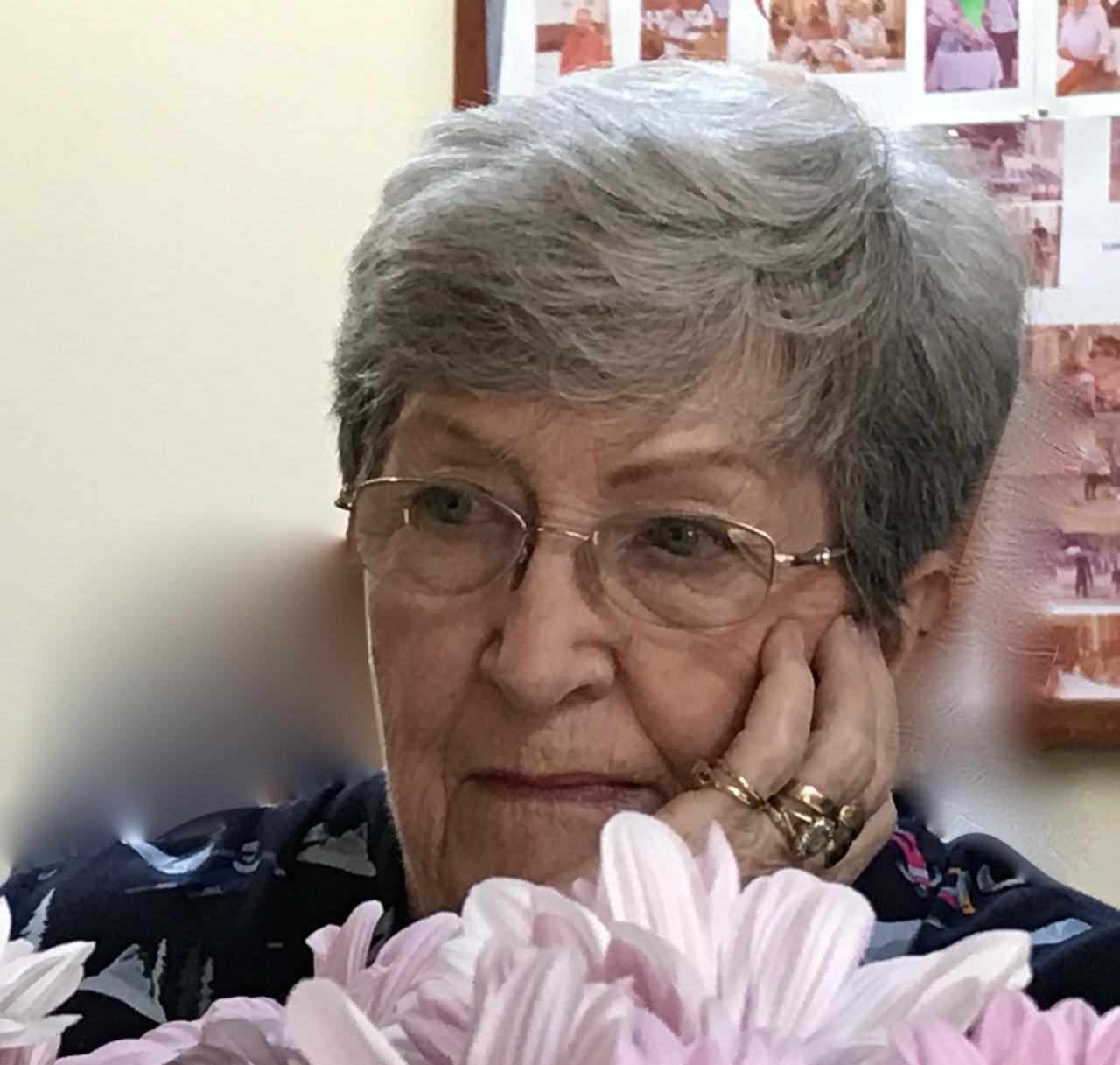 Meryl Harrison on her 80th birthday