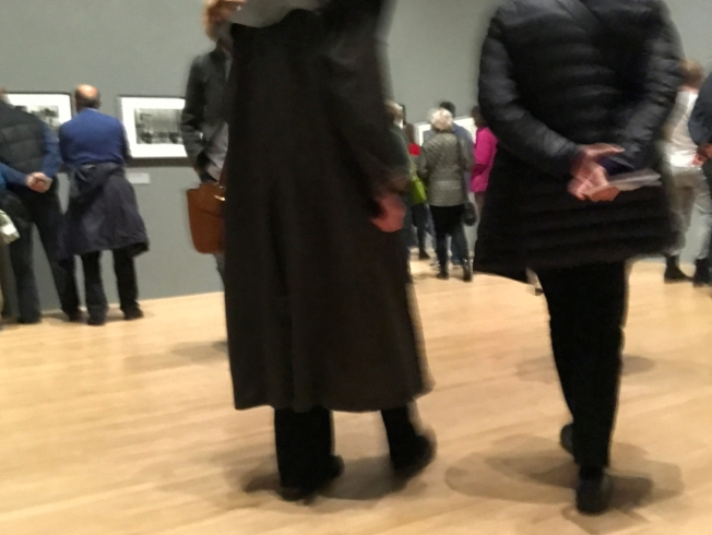 The crowd at the Don McCullin Exhibition at the Tate Britain in London - on until 6 May 2019