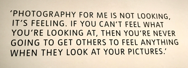 At the entrance to the exhibition of Don McCullin's photographs at Tate Britain, London