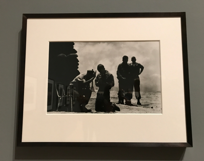 Don McCullin - On a hill in Da Nang a priest hears soldiers' confessions 1969
