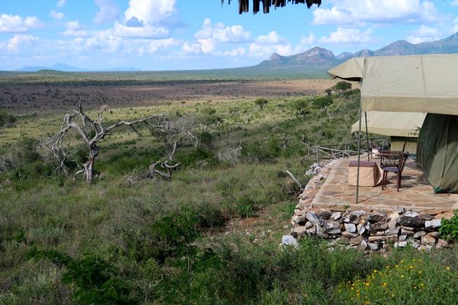 Our tent below Lions Bluff Lodge, Tsavo, Kenya