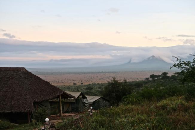 Our last dawn at Leopards Lair Camp, Tsavo, Kenya