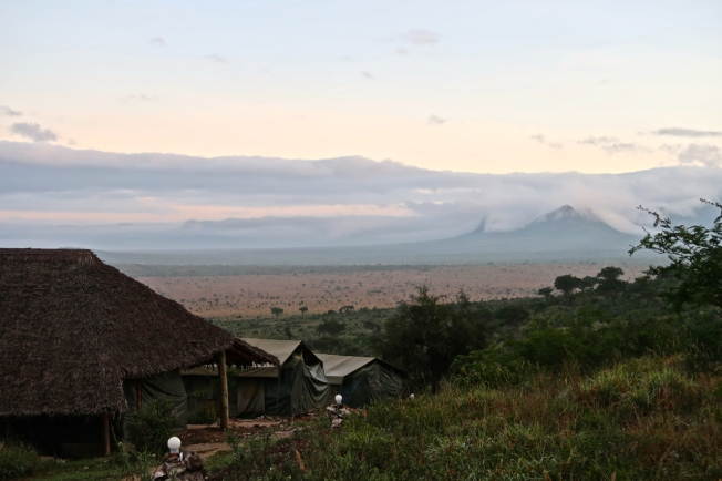 Our last dawn at Leopards Lair Camp, Tsavo, Kenya