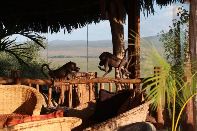 The verandah at Lions Bluff Lodge, Tsavo, Kenya